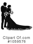 Wedding Couple Clipart #1059576 by AtStockIllustration