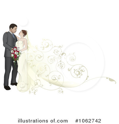 Bride Clipart #1062742 by AtStockIllustration