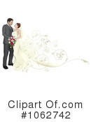 Royalty-Free (RF) wedding couple Clipart Illustration #1062742