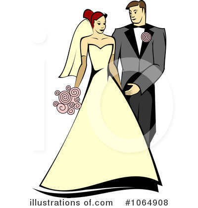 Wedding Couple Clipart #1064908 by Vector Tradition SM