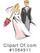Royalty-Free (RF) wedding couple Clipart Illustration #1064911