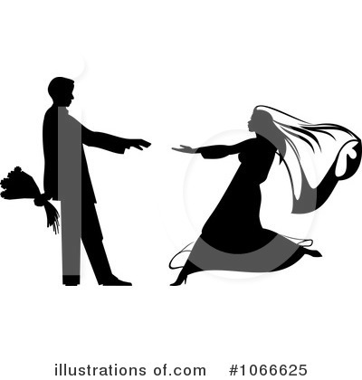 Wedding Couple Clipart #1066625 by Vector Tradition SM