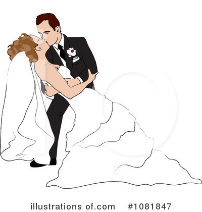 Wedding Couple Clipart #1081847 by Pams Clipart