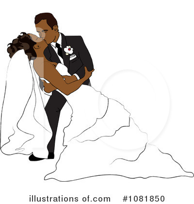 Wedding Couple Clipart #1081850 by Pams Clipart