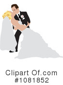 Wedding Couple Clipart #1081852 by Pams Clipart