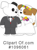 Royalty-Free (RF) wedding couple Clipart Illustration #1096061