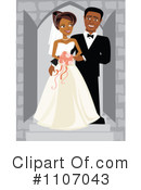 Royalty-Free (RF) Wedding Couple Clipart Illustration #1107043
