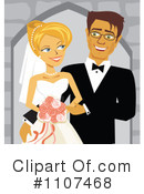 Royalty-Free (RF) Wedding Couple Clipart Illustration #1107468