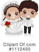 Royalty-Free (RF) wedding couple Clipart Illustration #1112430
