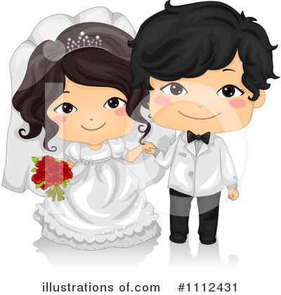 Bride Clipart #1112431 by BNP Design Studio