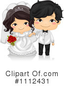 Royalty-Free (RF) Wedding Couple Clipart Illustration #1112431