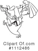 Royalty-Free (RF) wedding couple Clipart Illustration #1112486