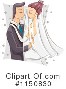 Royalty-Free (RF) Wedding Couple Clipart Illustration #1150830