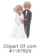 Royalty-Free (RF) wedding couple Clipart Illustration #1167629