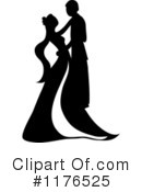 Royalty-Free (RF) Wedding Couple Clipart Illustration #1176525