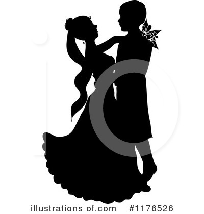 Wedding Couple Clipart #1176526 by Pams Clipart