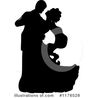 Wedding Couple Clipart #1176528 by Pams Clipart
