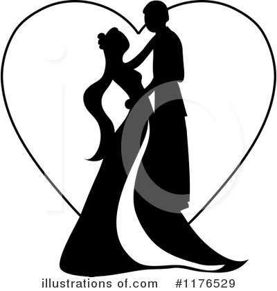 Royalty-Free (RF) Wedding Couple Clipart Illustration by Pams Clipart - Stock Sample #1176529