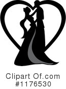Royalty-Free (RF) Wedding Couple Clipart Illustration #1176530