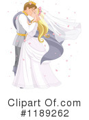 Royalty-Free (RF) wedding couple Clipart Illustration #1189262