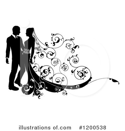 Wedding Couple Clipart #1200538 by AtStockIllustration