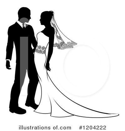 Bride Clipart #1204222 by AtStockIllustration