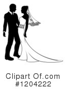 Royalty-Free (RF) Wedding Couple Clipart Illustration #1204222
