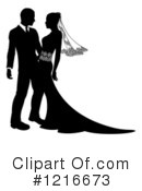 Wedding Couple Clipart #1216673 by AtStockIllustration