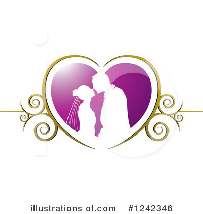 Wedding Couple Clipart #1242346 by Lal Perera