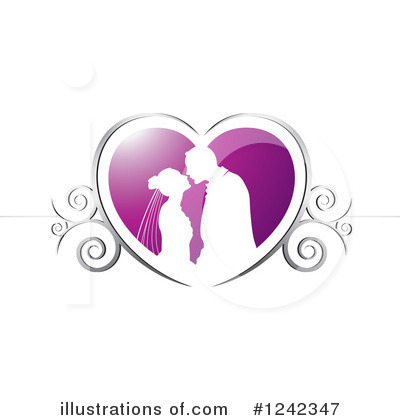 Wedding Couple Clipart #1242347 by Lal Perera