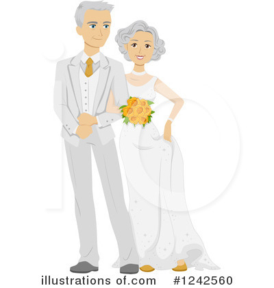 Bride Clipart #1242560 by BNP Design Studio