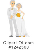 Royalty-Free (RF) Wedding Couple Clipart Illustration #1242560