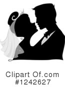 Royalty-Free (RF) Wedding Couple Clipart Illustration #1242627