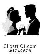 Royalty-Free (RF) Wedding Couple Clipart Illustration #1242628