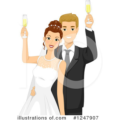 Just Married Clipart #1247907 by BNP Design Studio