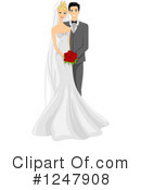 Wedding Couple Clipart #1247908 by BNP Design Studio