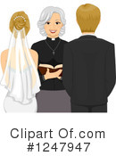 Royalty-Free (RF) Wedding Couple Clipart Illustration #1247947