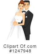 Wedding Couple Clipart #1247948 by BNP Design Studio