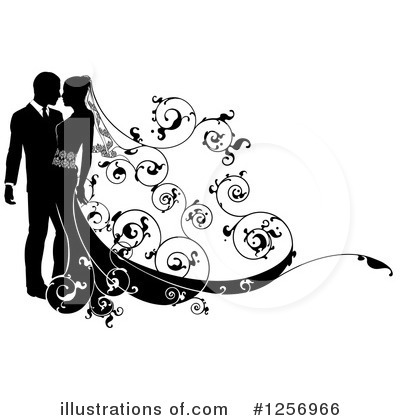 Wedding Couple Clipart #1256966 by AtStockIllustration