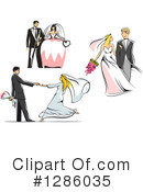 Wedding Couple Clipart #1286035 by Vector Tradition SM