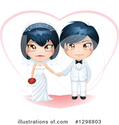 Royalty-Free (RF) Wedding Couple Clipart Illustration by Liron Peer - Stock Sample #1298803