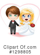 Wedding Couple Clipart #1298805 by Liron Peer