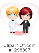 Wedding Couple Clipart #1298807 by Liron Peer