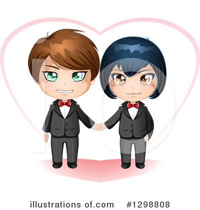 Gay Couple Clipart #1298808 by Liron Peer