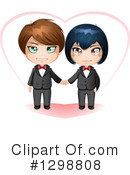 Wedding Couple Clipart #1298808 by Liron Peer