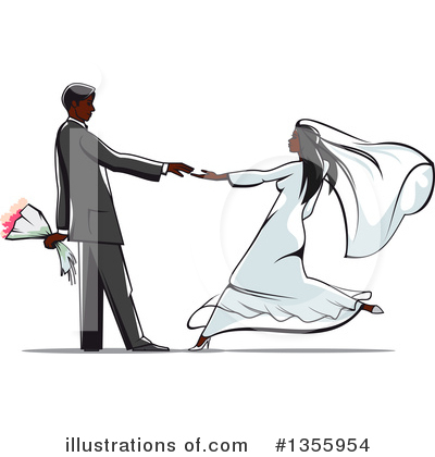 Wedding Couple Clipart #1355954 by Vector Tradition SM