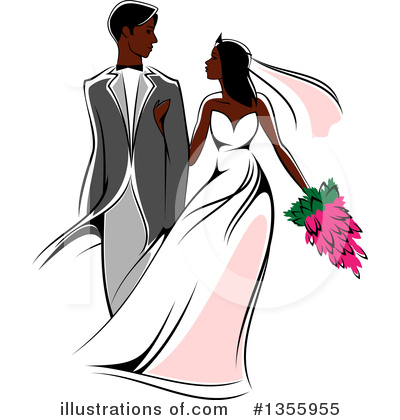 Wedding Couple Clipart #1355955 by Vector Tradition SM