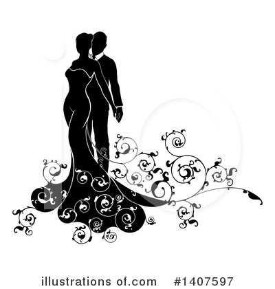 Couple Clipart #1407597 by AtStockIllustration