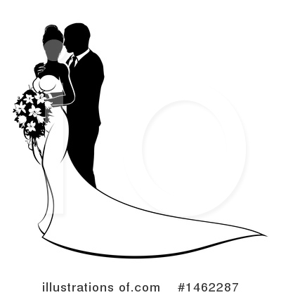 Wedding Couple Clipart #1462287 by AtStockIllustration