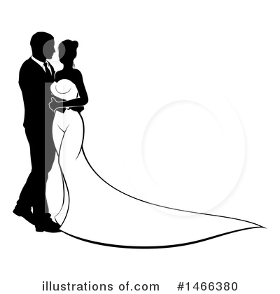 Wedding Couple Clipart #1466380 by AtStockIllustration